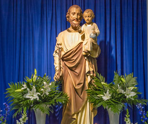 St Joseph Altar - St Ambrose Church - St. Louis Missouri